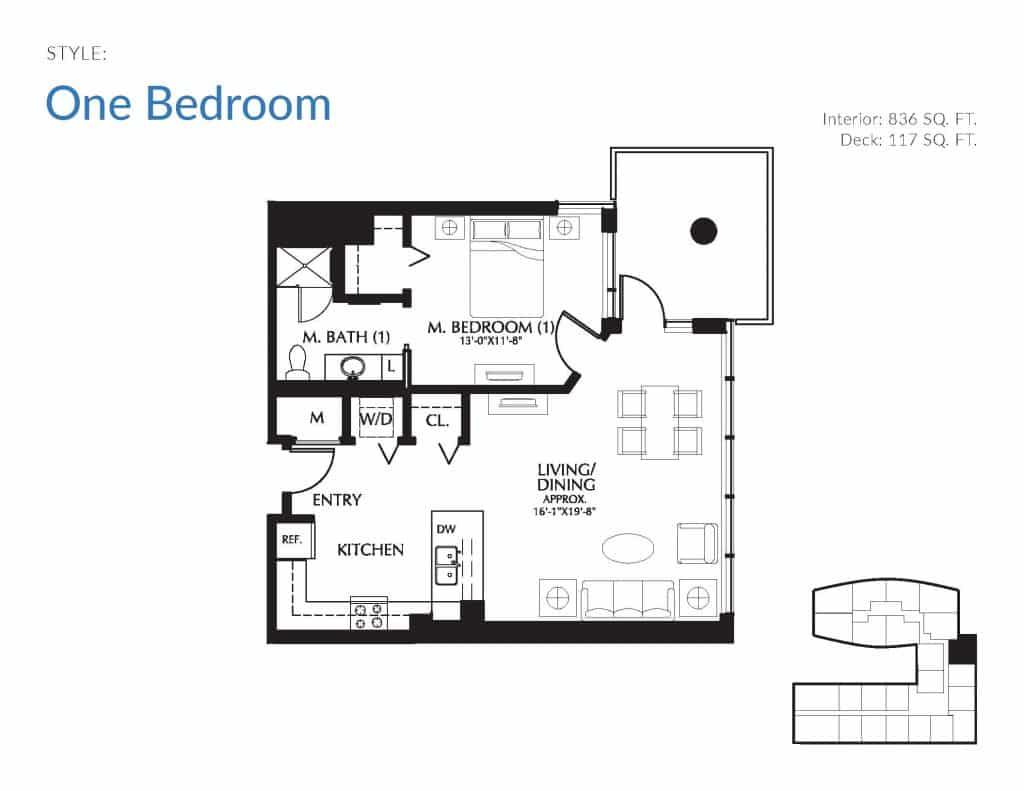 mirabella one bedroom